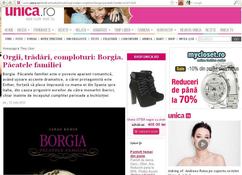 Borgia in Unica
