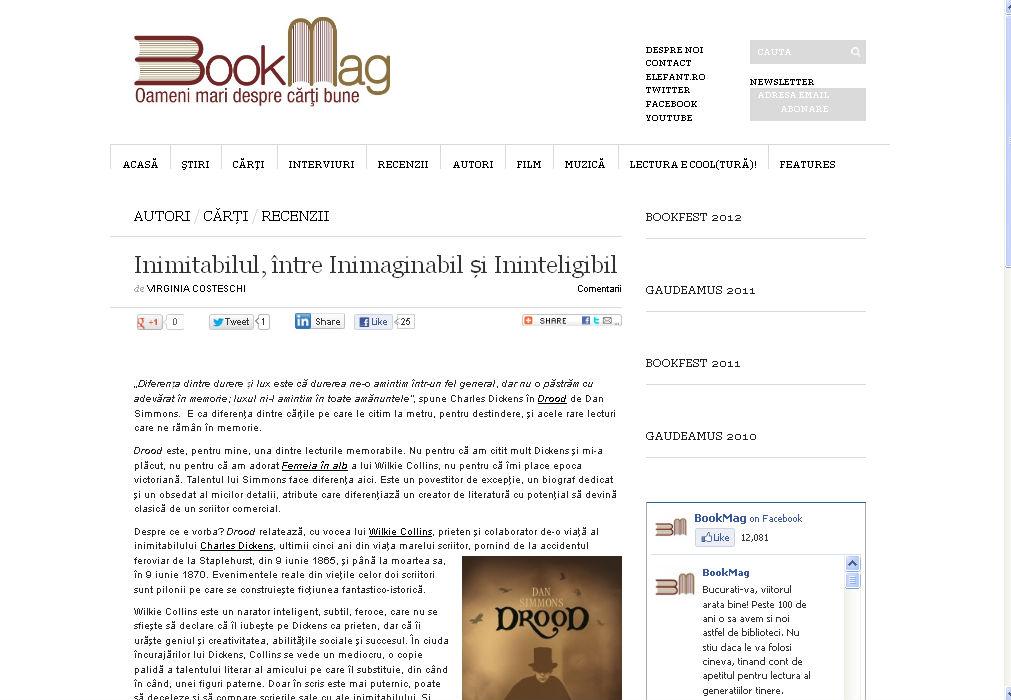 Drood Inimitabilul între Inimaginabil și Ininteligibil pe BookMag