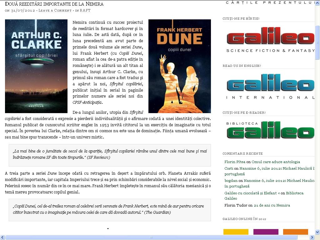 Dune si Sfarsitul copilariei_Galileo