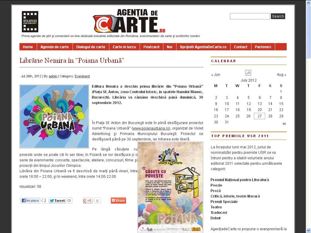 Libraria Nemira in Poiana Urbana_Agentia de carte