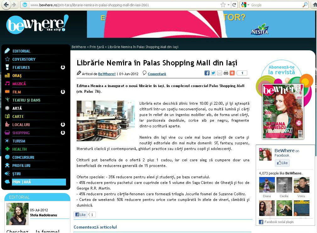 Librarie Nemira in Palas Iasi_Revista BeWhere!