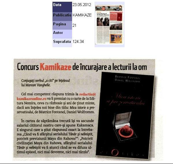 Mica istorie a prezervativului_Concurs Kamikaze de incurajare a lecturii la om