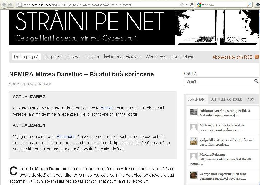 Mircea Daneliuc - Baiatul fara sprancene_Cyberculture