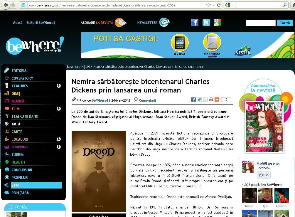 Nemira sarbatoreste bicentenarul Charles Dickens_BeWhere!