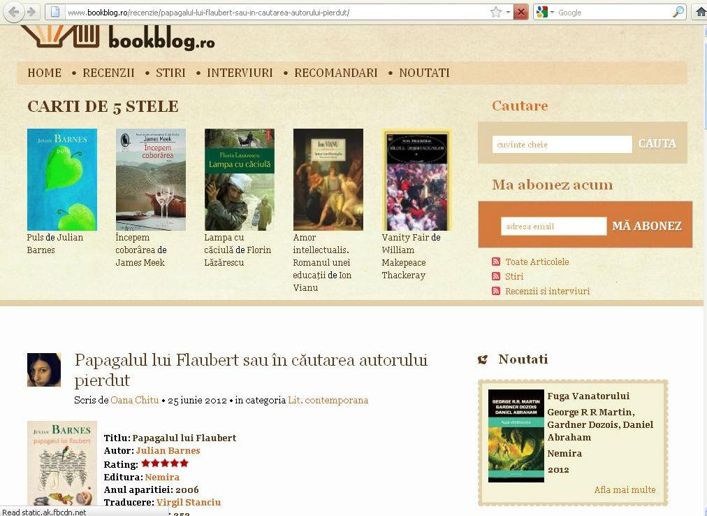 Papagalul lui Flaubert_Bookblog