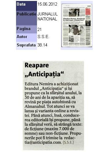 Reapare Anticipatia_Jurnalul National