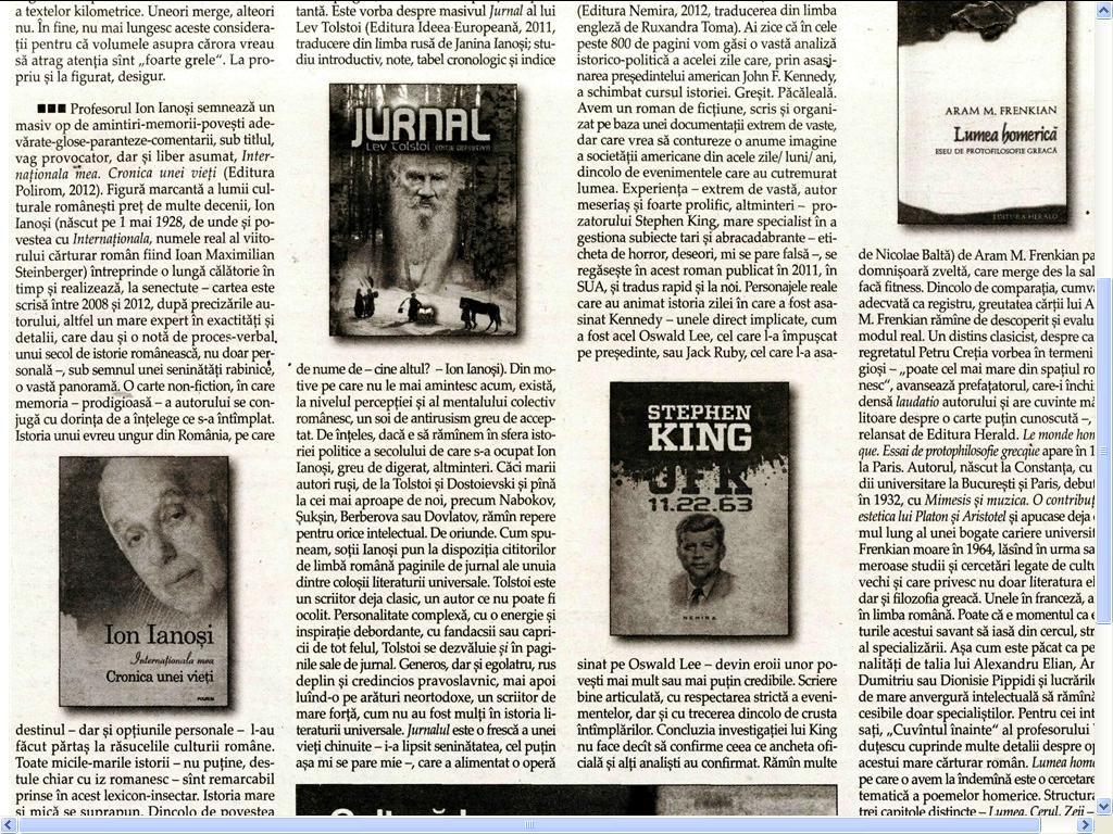 JFK de STEPHEN KING_in Observatorul Cultural