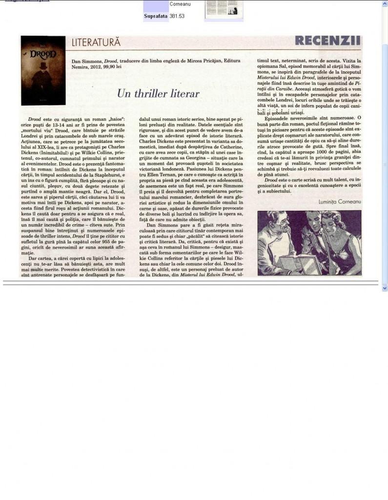Drood-un thriller literar-Dilemateca