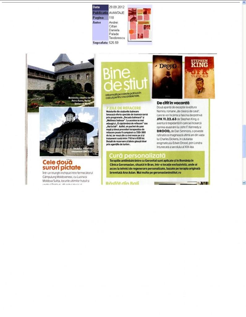 Recomandari de carte Nemira in Revista Avantaje