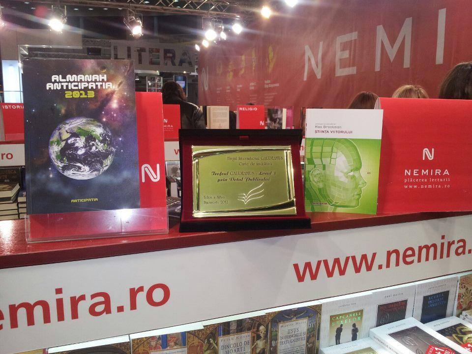 Trofeul Gaudeamus prin Votul Publicului pentru Nemira