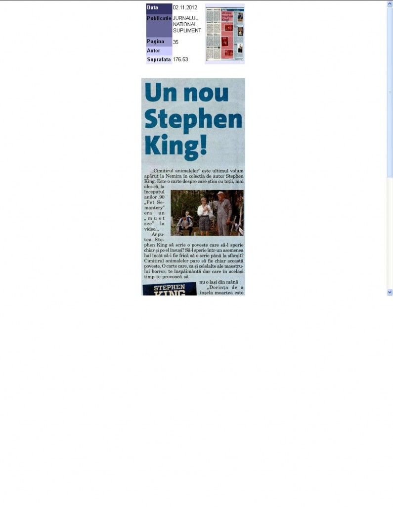 Un nou Stephen King_Jurnalul National