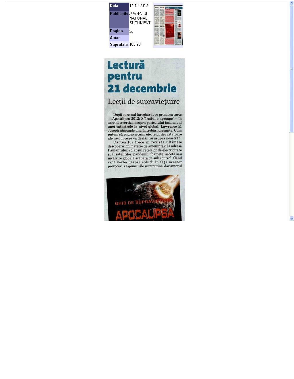 Apocalipsa 2012_Jurnalul National Supliment