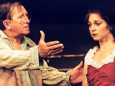 Virgil Ogasanu si Crenguta Hariton in Uzina de placeri SA, de Valentin Nicolau, regia Alexandru Berceanu