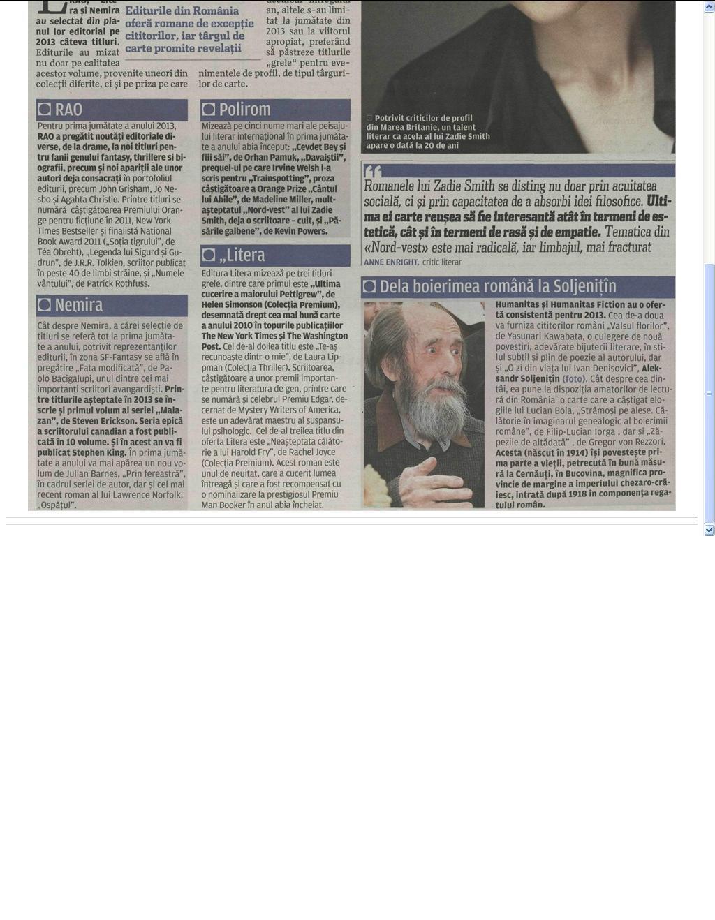 Hiturile editoriale 2013_EVZ