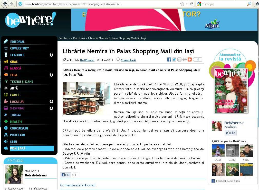 Librarie Nemira in Palas Iasi_Revista BeWhere!