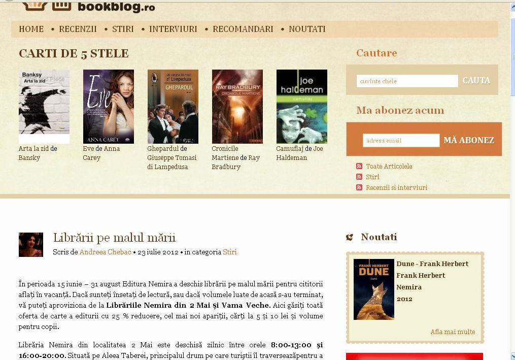 Librarii Nemira pe malul marii_Bookblog