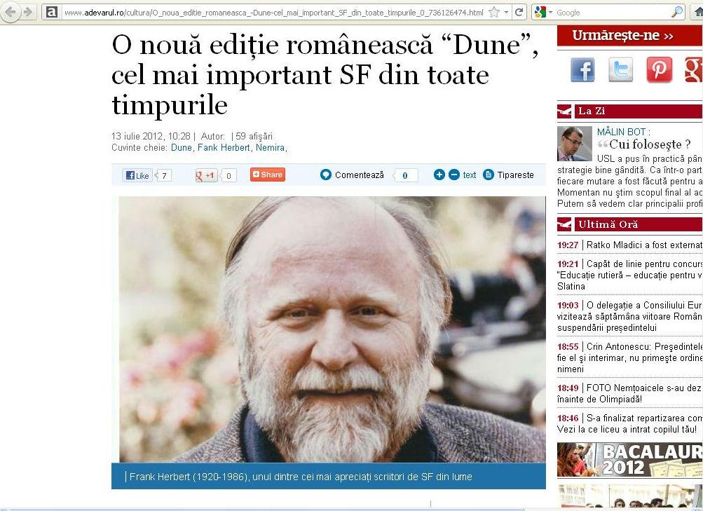 O noua editie Dune_Adevarul