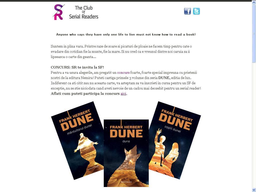 The Club of Serial Readers recomanda Dune!