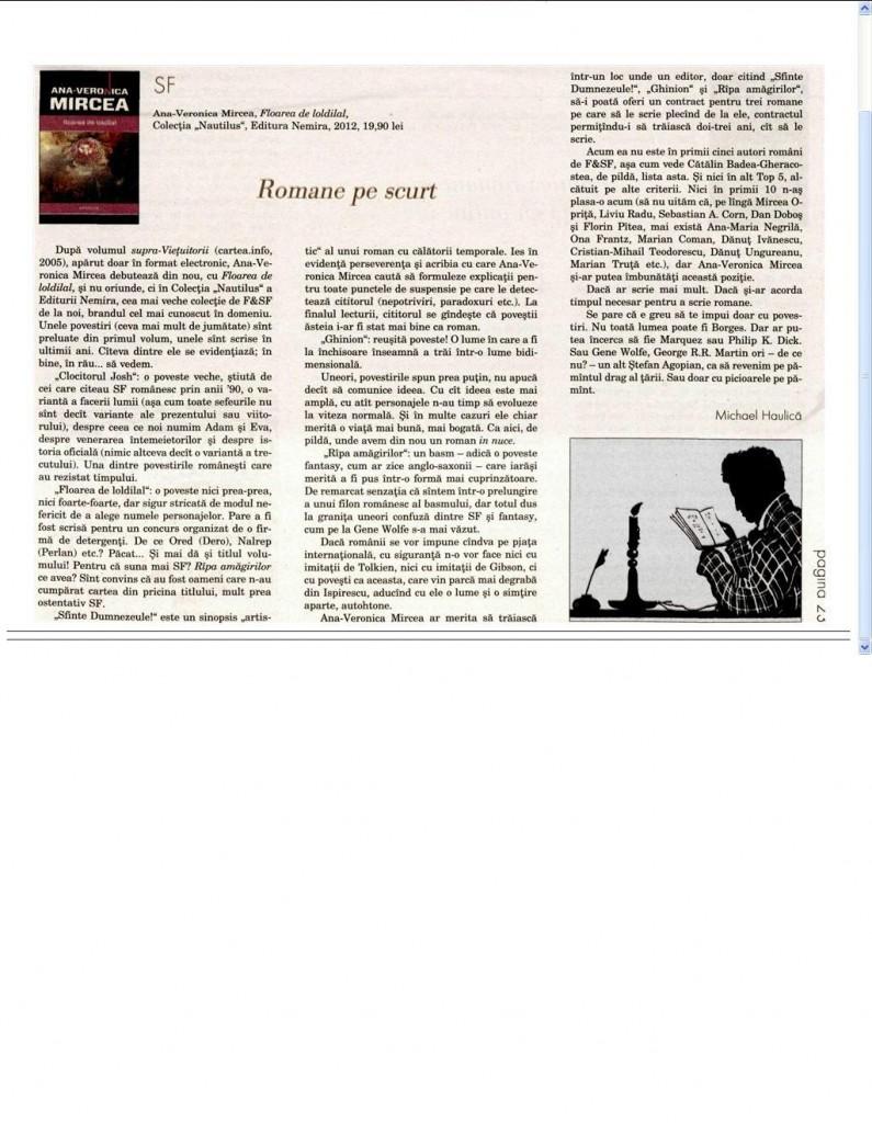 Floarea de loldilal, de Ana -Veronica Mircea_recenzie in Dilemateca