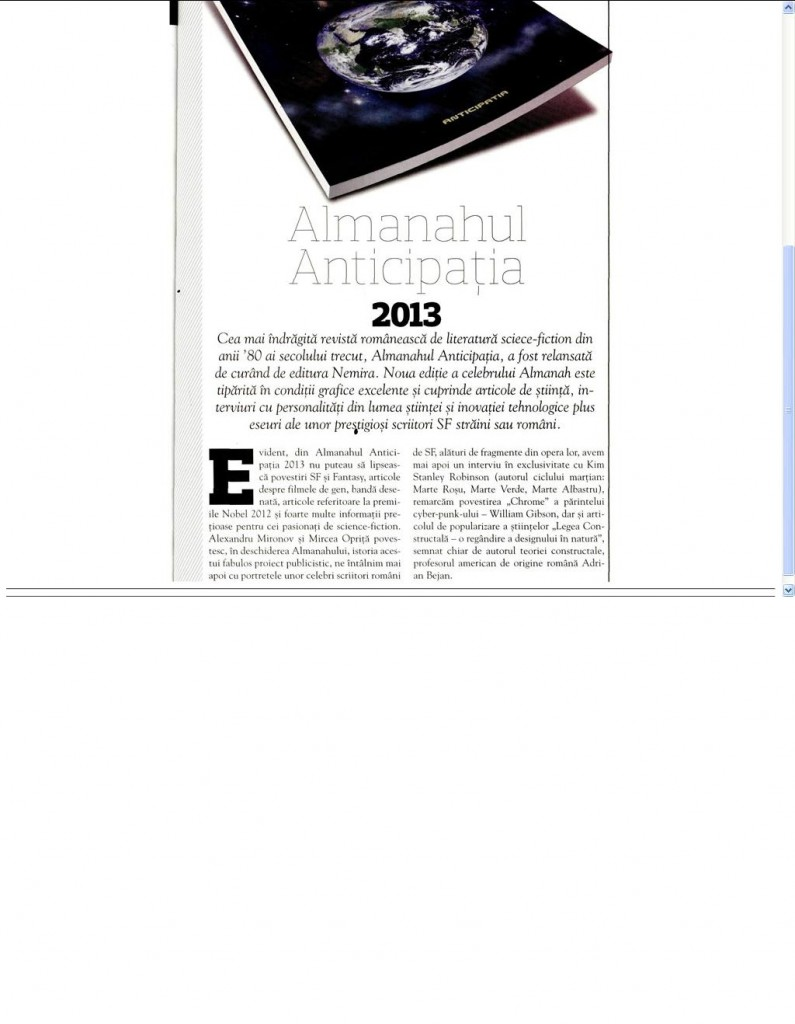 Almanahul Anticipatia 2013_Stiinta si tehnica